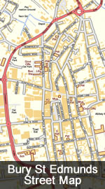 Bury St Edmunds Map