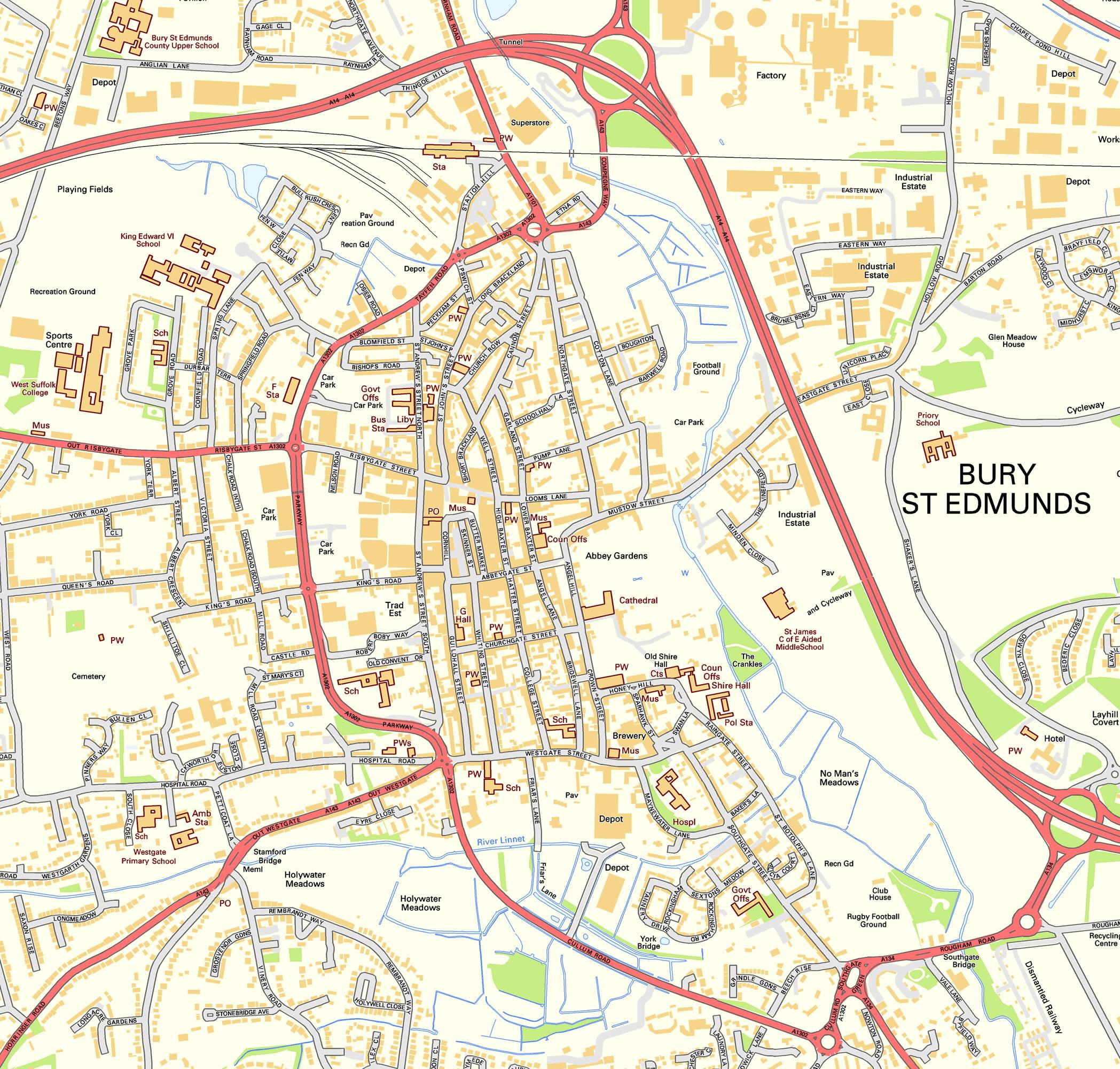 Suffolk Maps